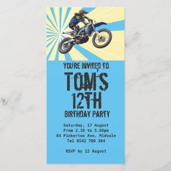 Motorcross Birthday Party Invitation