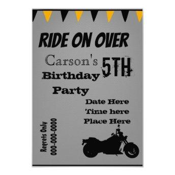 Motorcycle Birthday Invite