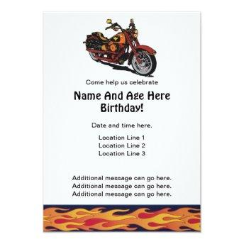 Motorcycle Birthday Invites