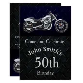 Motorcycle Birthday Party Men's Invitation