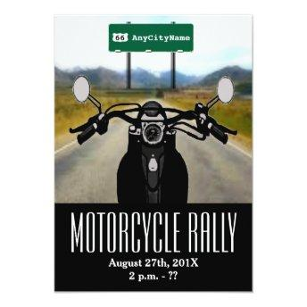 Motorcycle Rally Invitation