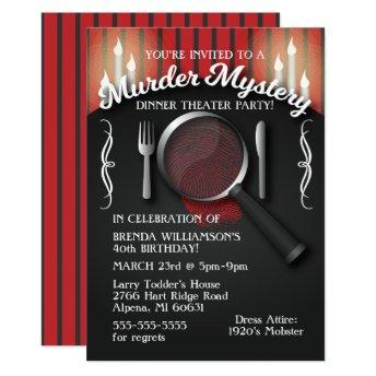 Murder Mystery Dinner Theater Party
