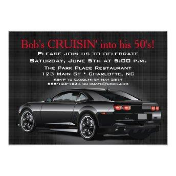 Muscle Car Mens Adult Birthday Party