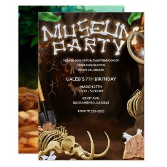 MUSEUM PARTY Dinosaur Bones Mystery Cave Birthday