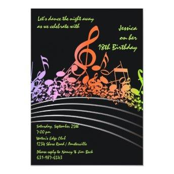 Music Notes Birthday Invitation Party Invitations