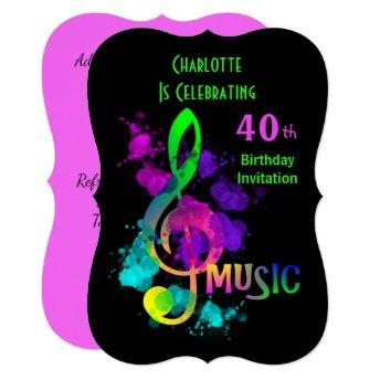 Music Themed Celebration Party Personalized