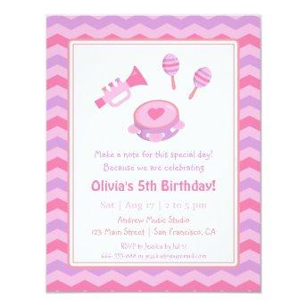 Musical Instruments Girls Birthday Party