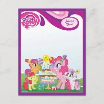 My Little Pony Birthday Party Thank You