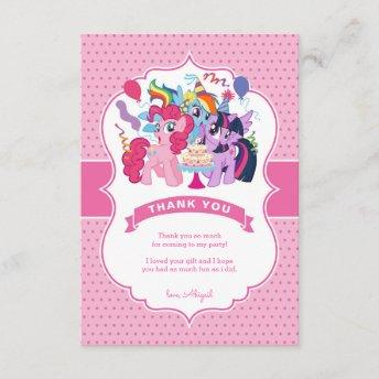 My Little Pony | Pink Birthday Thank You