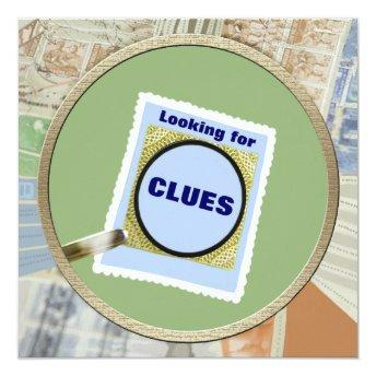 Mystery Magnifying Glass Clues Birthday Party