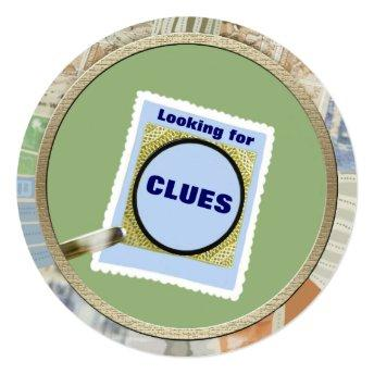 Mystery Magnifying Glass Clues Kids  Party