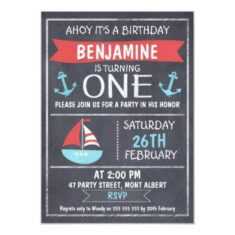 Nautical Chalkboard 1st Birthday