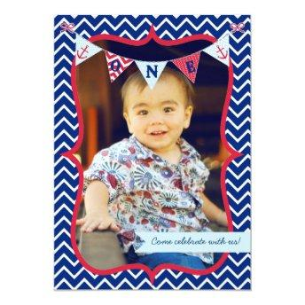 Nautical First Birthday Boy Photo Party