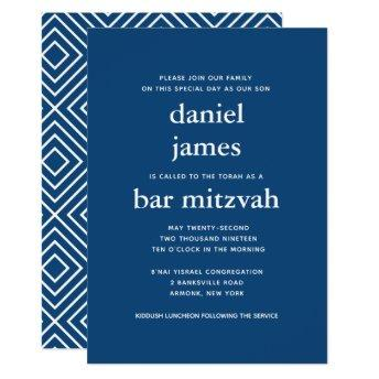 Navy Blue Modern Bar Mitzvah II