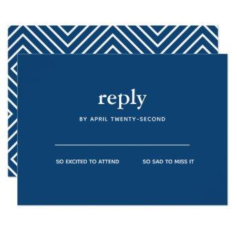 Navy Blue Modern Bar Mitzvah II  Reply