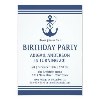 Navy Blue Nautical Birthday Party