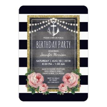 Navy Pink Nautical Birthday Party