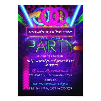 Neon Glow PARTY Birthday Club Event