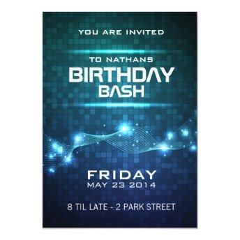 Night Club Style Birthday Invitation