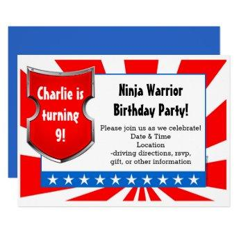 Ninja Warrior Birthday Party Kids Boys Patriotic