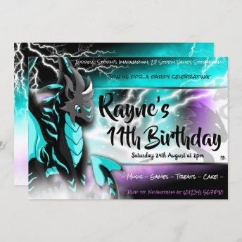 Novastorm Dragon Birthday Invitation