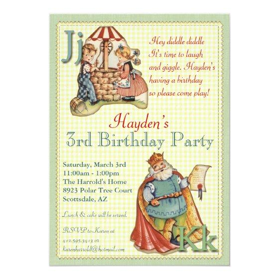 243 Nursery Rhyme Invitation