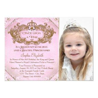 Once Upon a Time Princess Photo Birthday Party