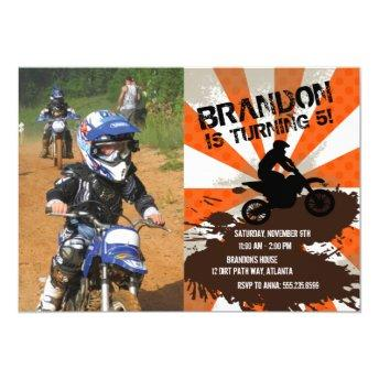Orange Dirt Bike Birthday