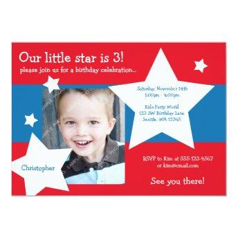 Our Little Star Red, White, and Blue Boy Birthday