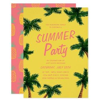 Palm Tree Summer Party