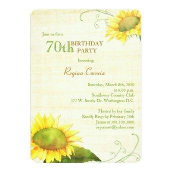 Papyrus Sunflowers 70th Birthday Party