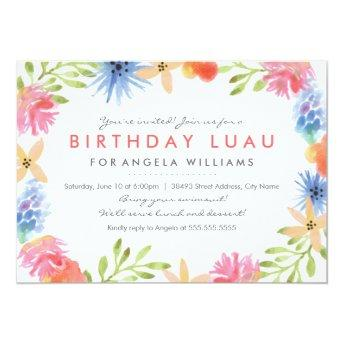 Paradise Birthday Luau Invite