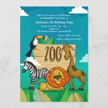 Party at the Zoo Invitation