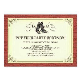 Party Boots Old Western