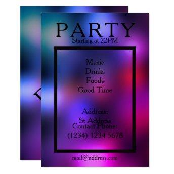 Party night cool smooth club style invitation