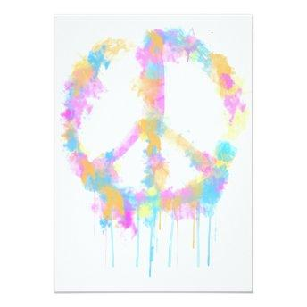Peace Watercolor Design Invitation/Greeting Invitation