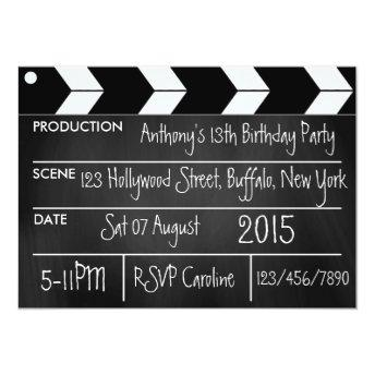 Personalize Hollywood Movie Theme Party Chalkboard
