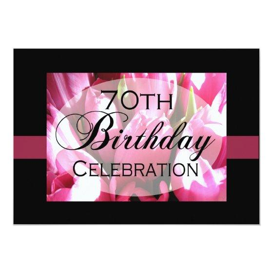 222 Personalized 70th Birthday Party Invitation