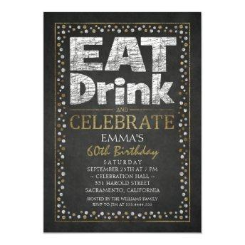 Personalized Adult 60th Birthday Party Invitation