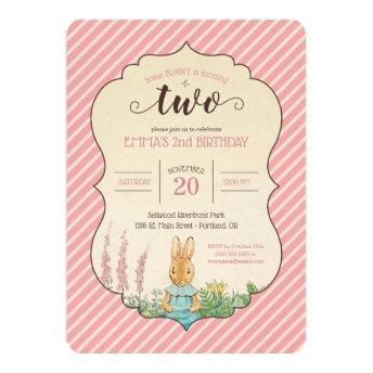 Teal Blue Princess 2nd Birthday Party Invitation