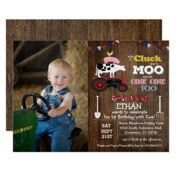 PHOTO/ANY AGE - Farm Boy Birthday Invitation