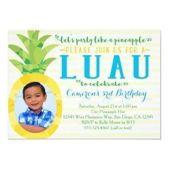 Photo Boy Luau Pineapple Birthday