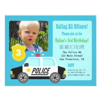 Photo Police Car Kids  Party