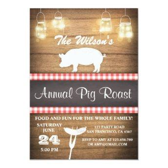 Pig Roast  BBQ BaByQ Shower Rustic wood