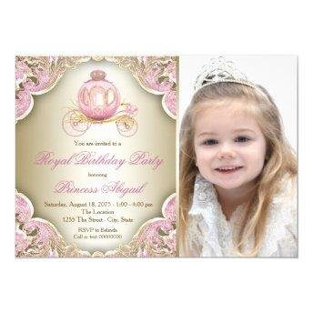 Pink and Gold Royal Princess Photo Birthday Party