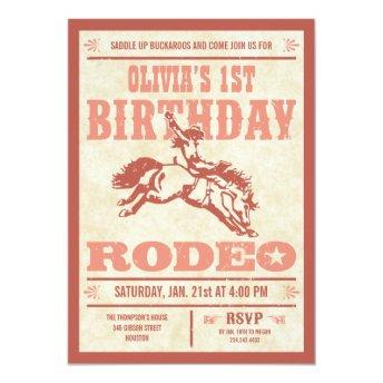 Pink Cowgirl Birthday Rodeo Poster Invitation