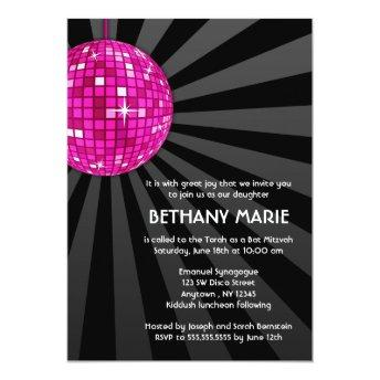 Pink Disco Ball Bat Mitzvah