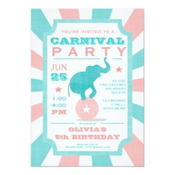 Pink | Turquoise Carnival Party Big Top Birthday