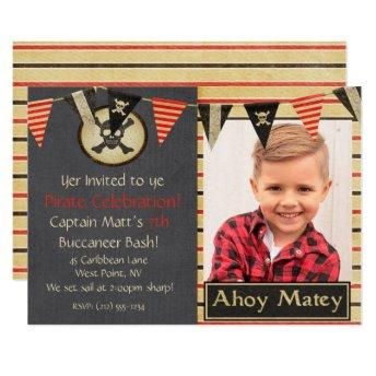 Pirate Kids Birthday Party Invitation