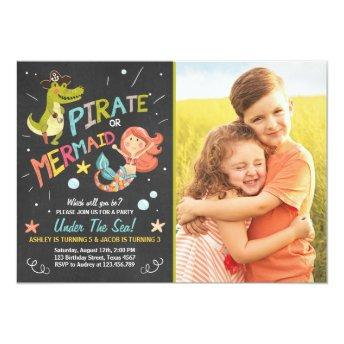 Pirate or Mermaid birthday  Joint Bday